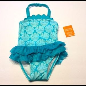 NWT Gymboree Girls 6-12 Months bathing suit shells